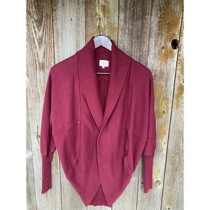 ARITZIA WILFRED diderot burgundy cardigan sweater